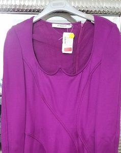 Purple Givenchy Spandex Dress.